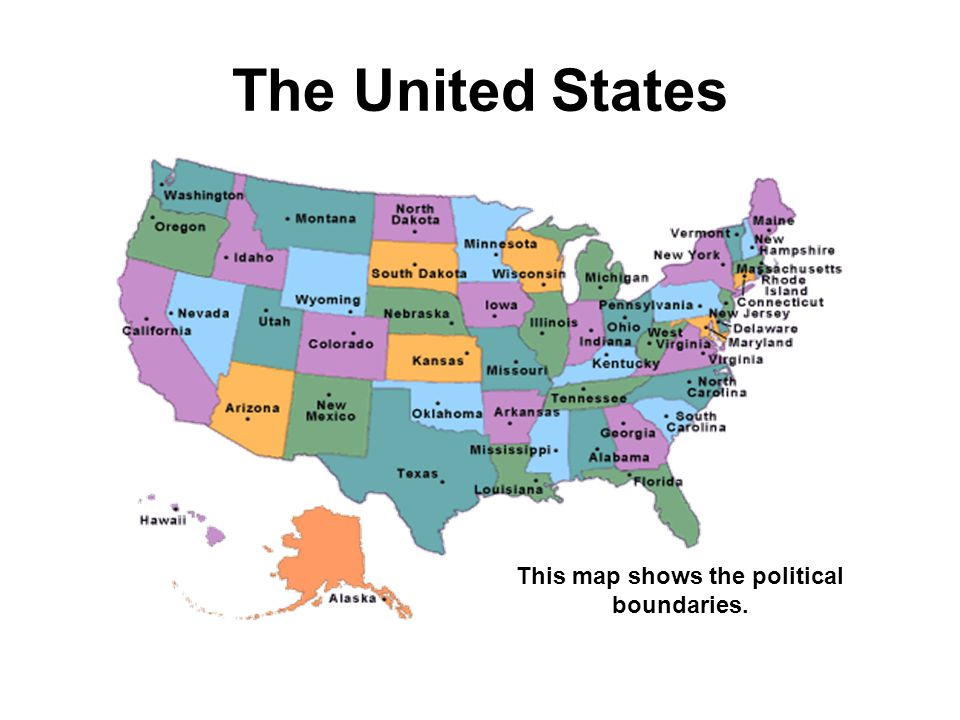 This map shows the political boundaries.