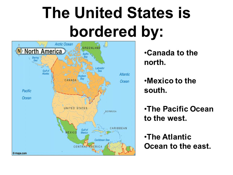 The United States is bordered by: