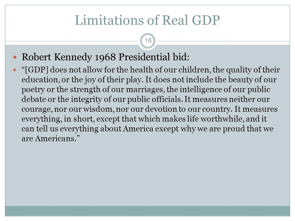 Limitations of Real GDP