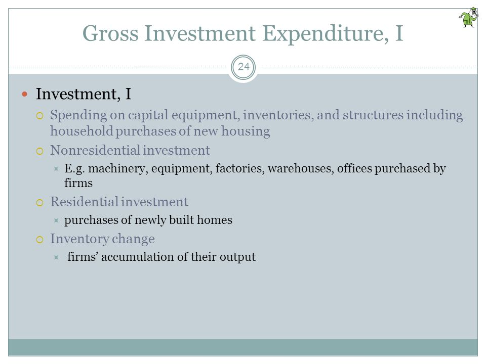 Gross Investment Expenditure, I