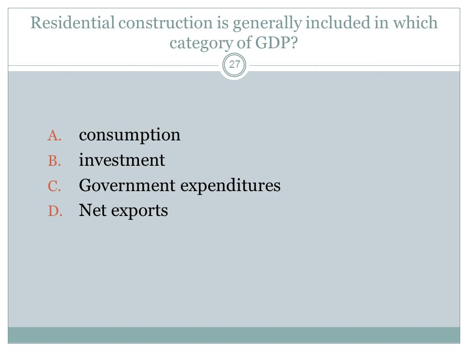 Government expenditures Net exports