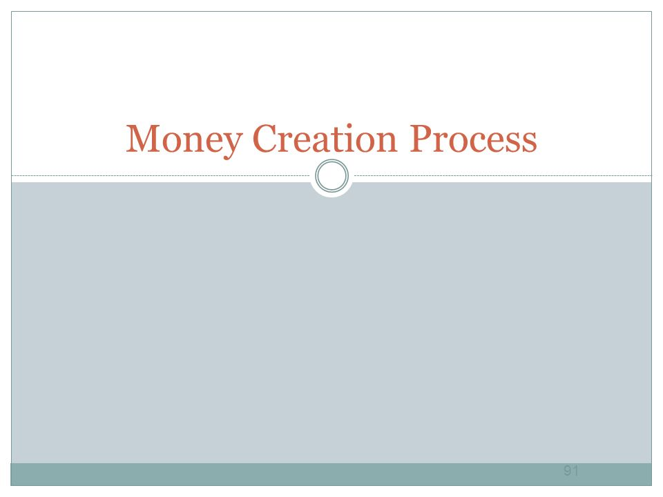 Money Creation Process