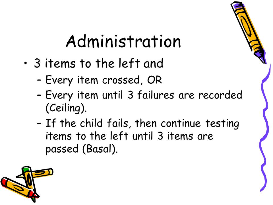 Administration 3 items to the left and Every item crossed, OR