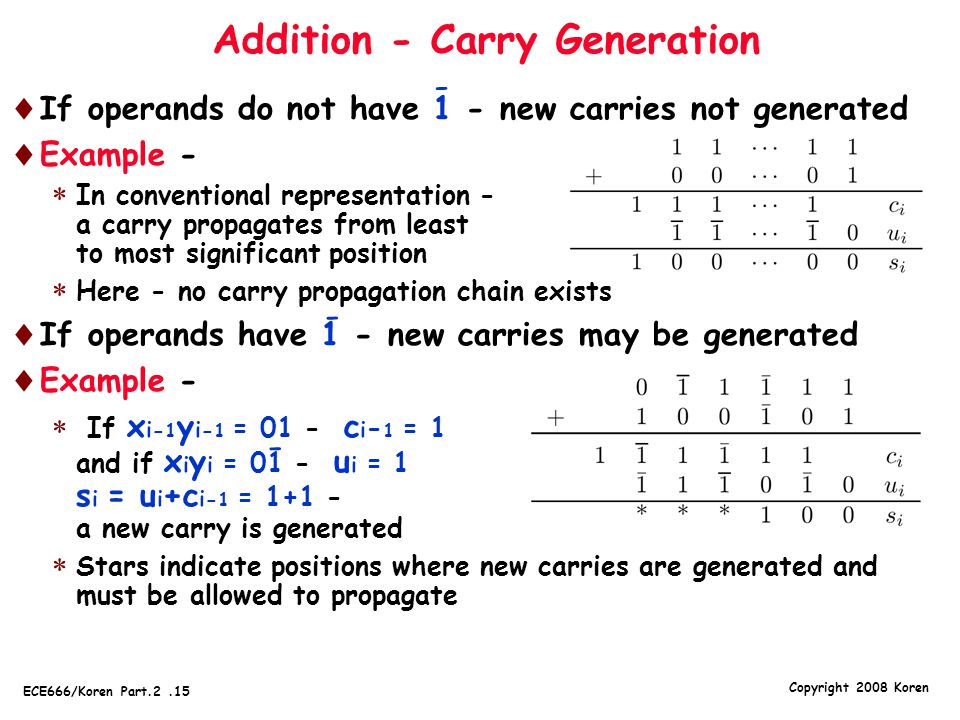 Addition - Carry Generation