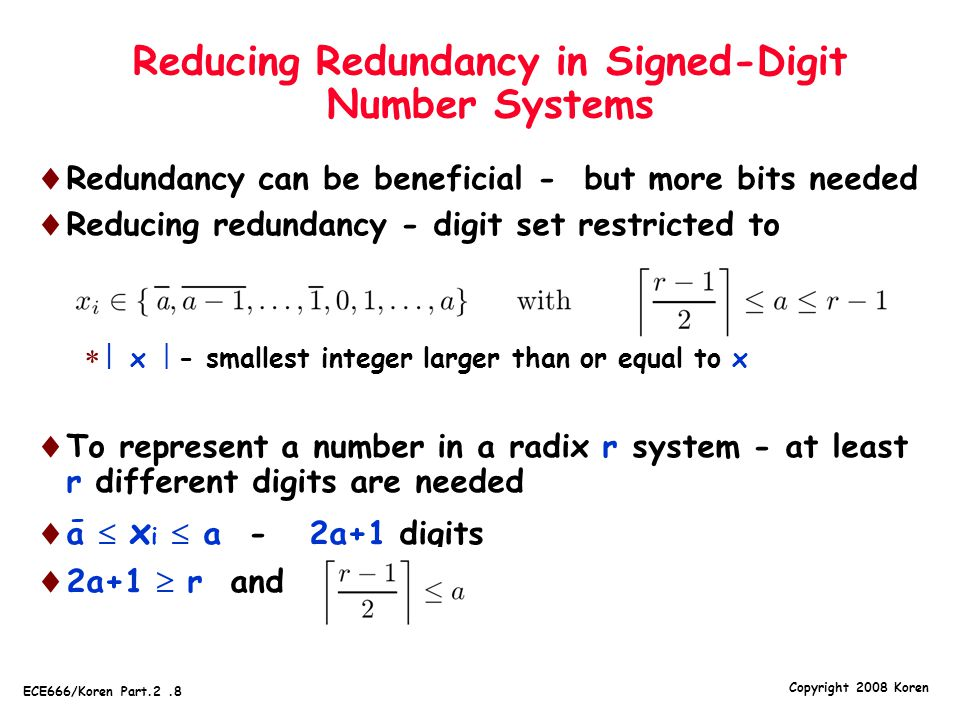 Reducing Redundancy in Signed-Digit Number Systems