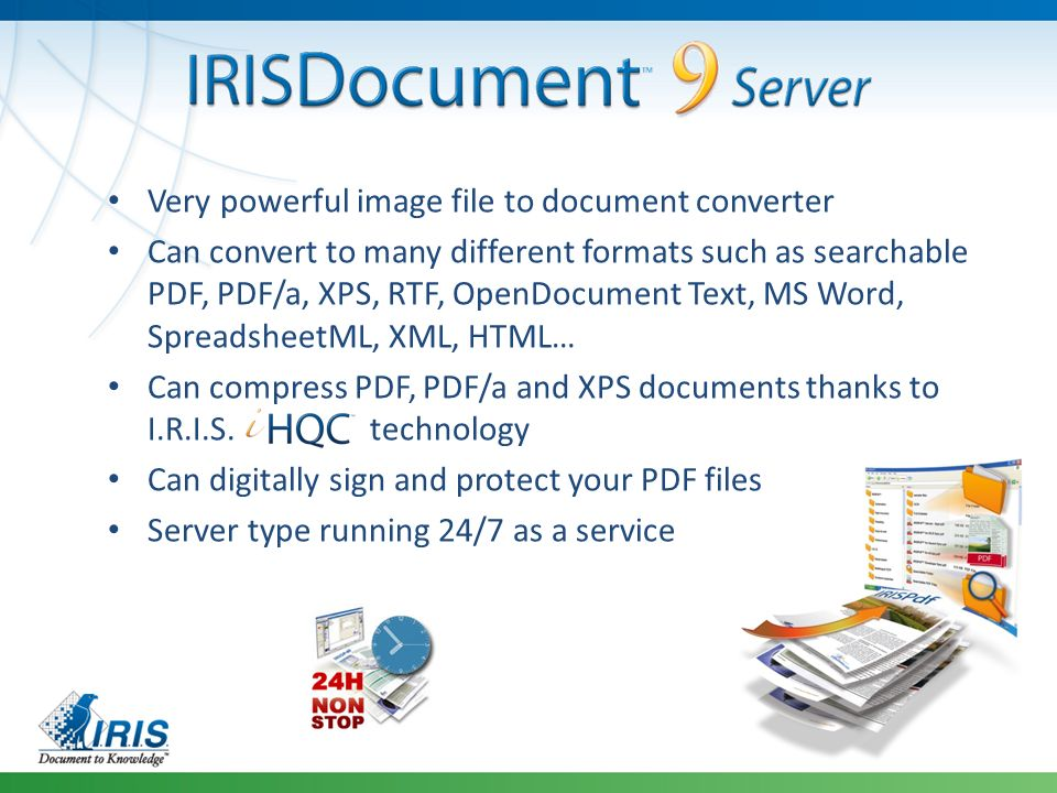 End-to-end document capture, indexation, OCR to Microsoft
