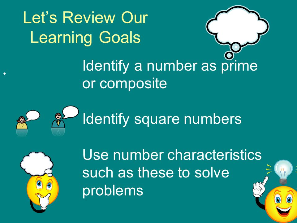 Let's Review Our Learning Goals