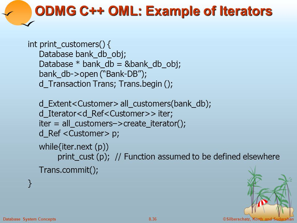 ODMG C++ OML: Example of Iterators