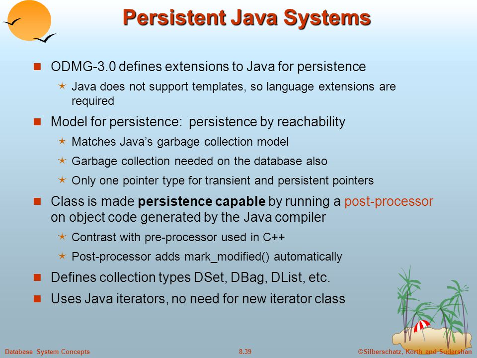 Persistent Java Systems
