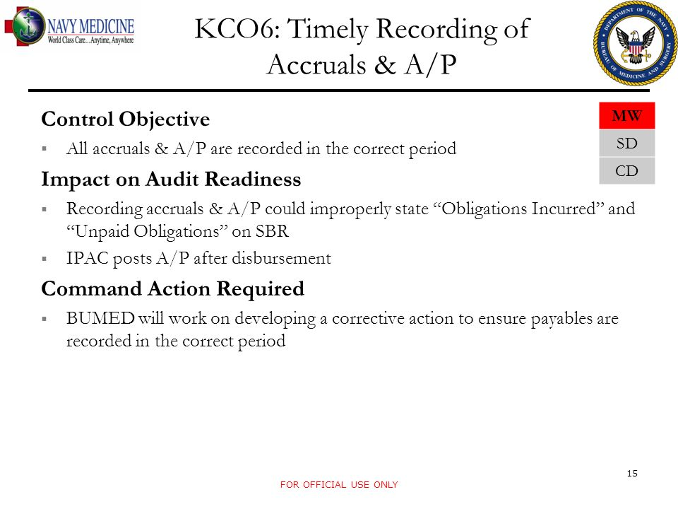 KCO6: Timely Recording of Accruals & A/P