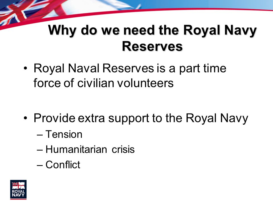 Why do we need the Royal Navy Reserves