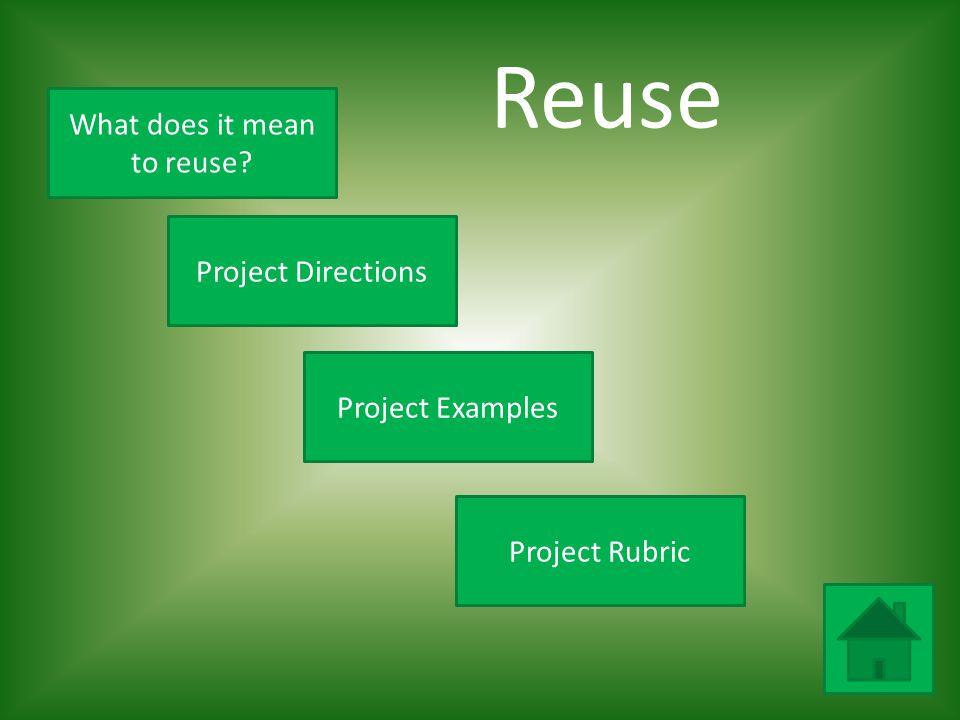 What does it mean to reuse