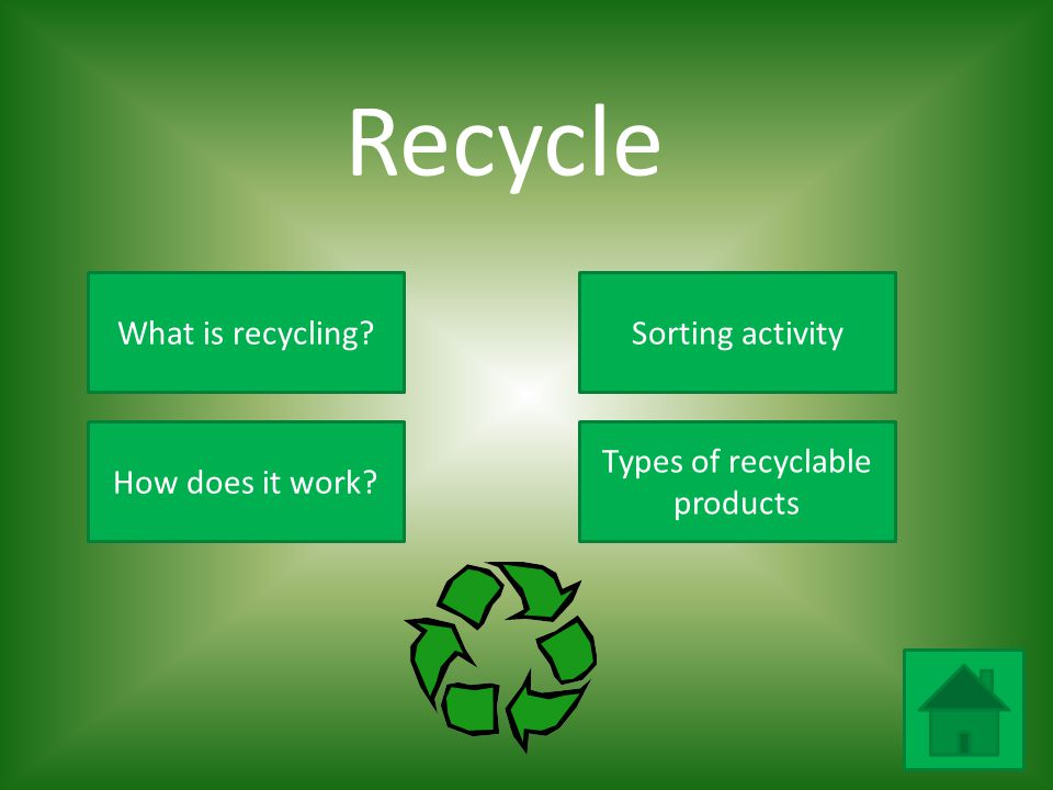 Types of recyclable products