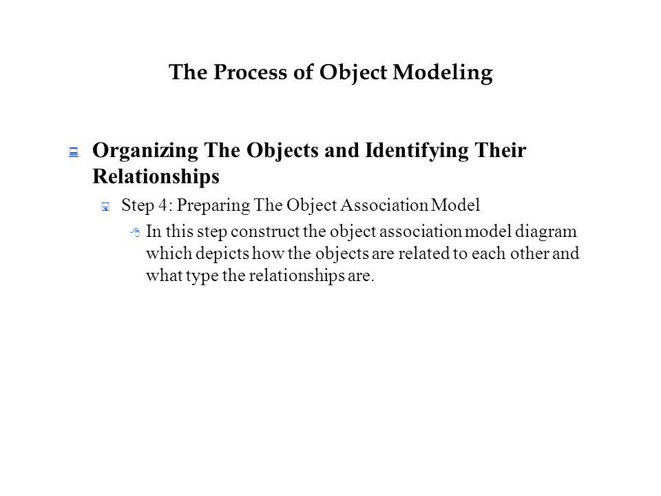 An Introduction To Object Modeling Ppt Download