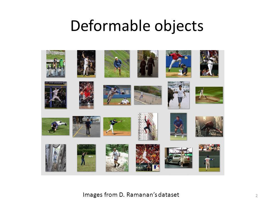 Deformable objects Images from D. Ramanan's dataset