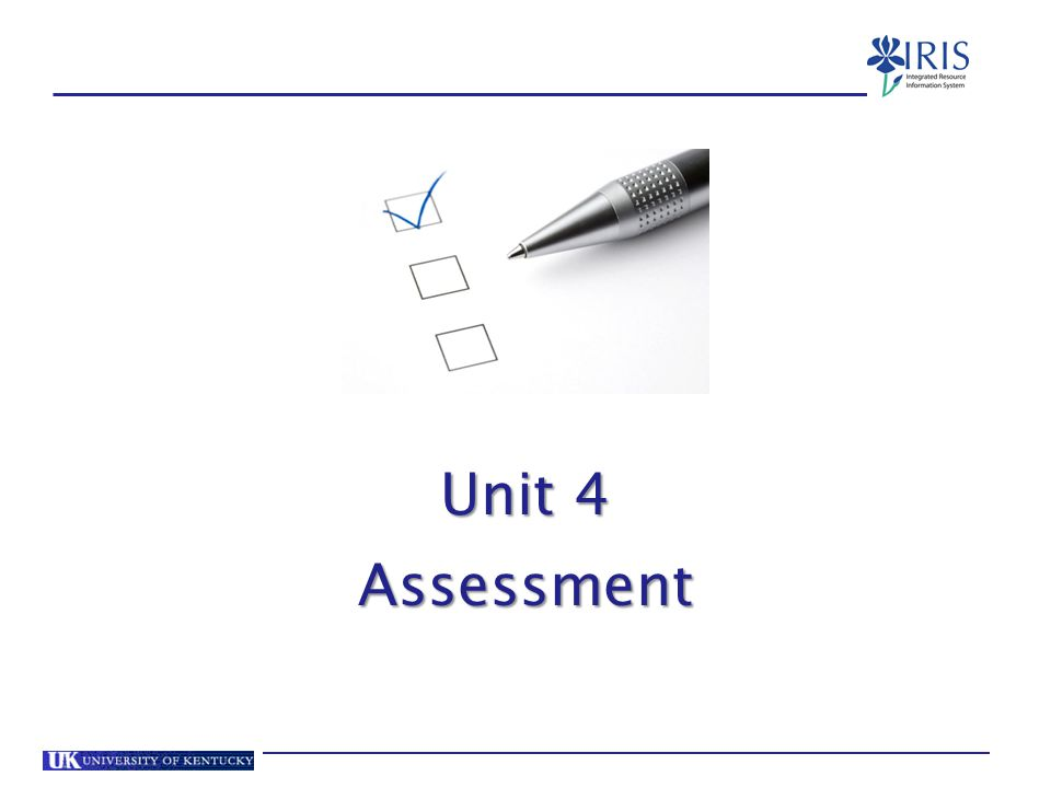 Unit 4 Assessment