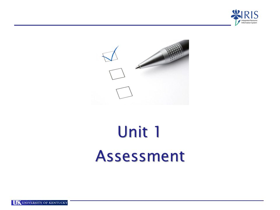 Unit 1 Assessment