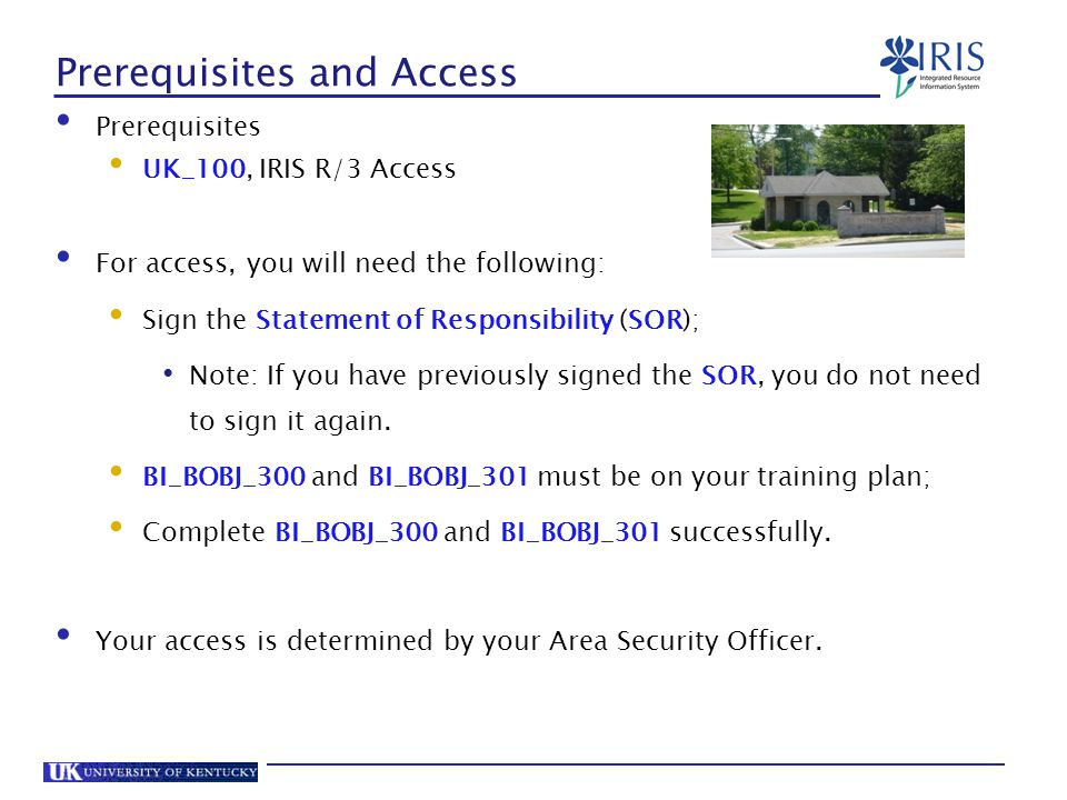 Prerequisites and Access