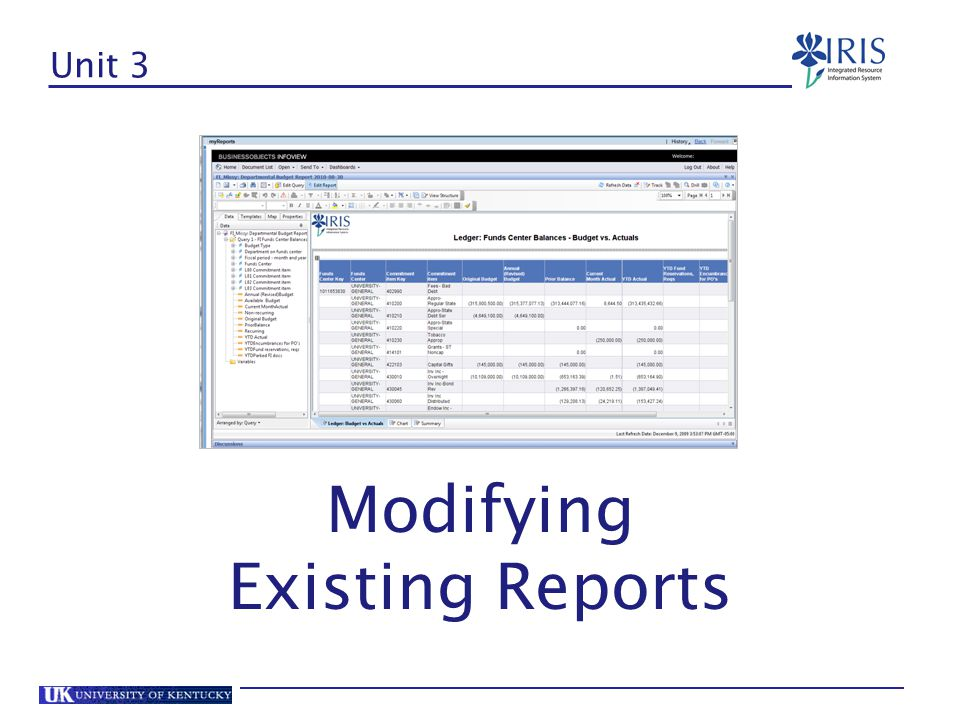 Unit 3 Modifying Existing Reports