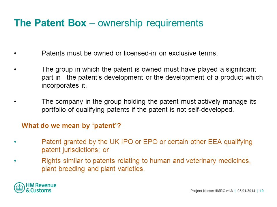 The Patent Box – ownership requirements