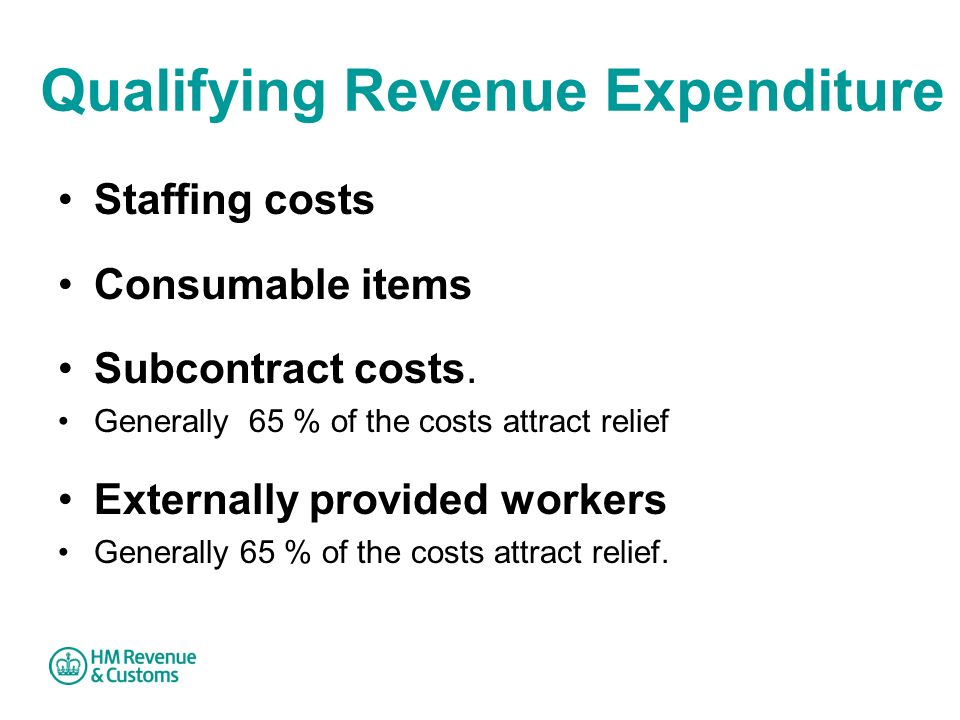 Qualifying Revenue Expenditure