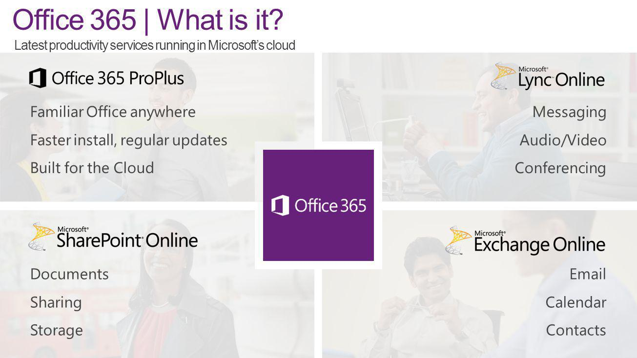 Office 365 | What is it Familiar Office anywhere
