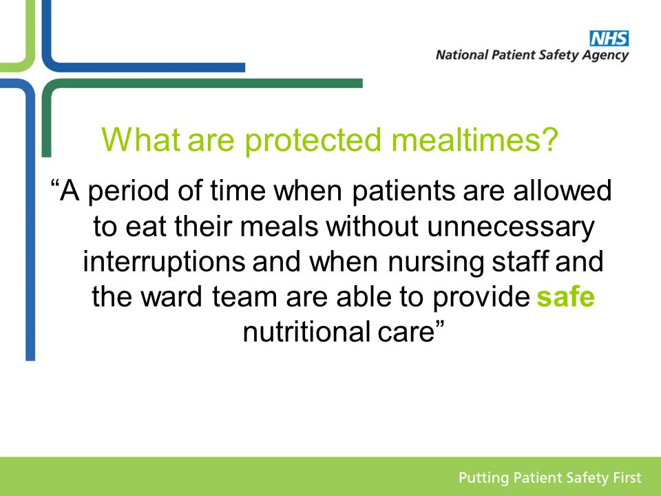 What are protected mealtimes