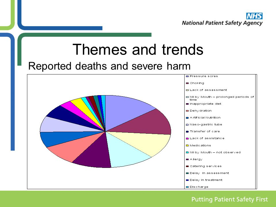 Themes and trends Reported deaths and severe harm