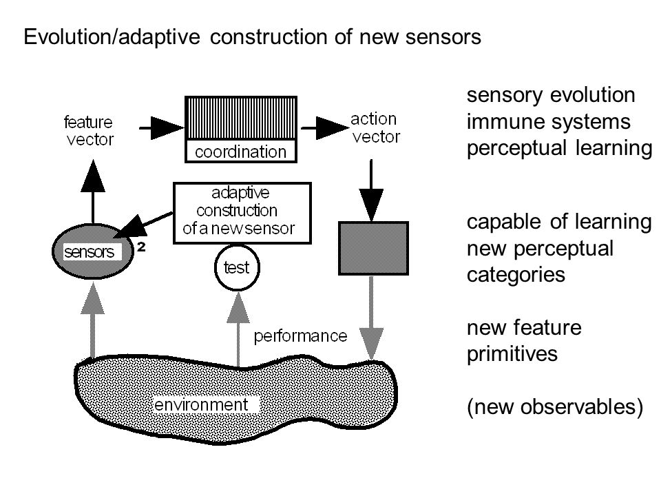 Evolution/adaptive construction of new sensors