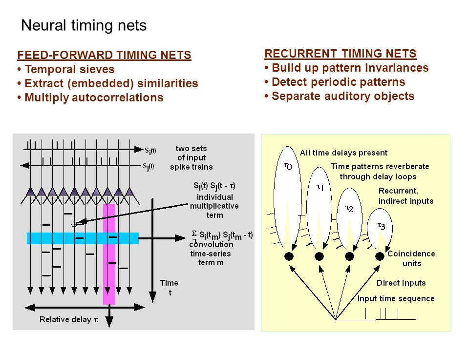 Neural timing nets FEED-FORWARD TIMING NETS RECURRENT TIMING NETS