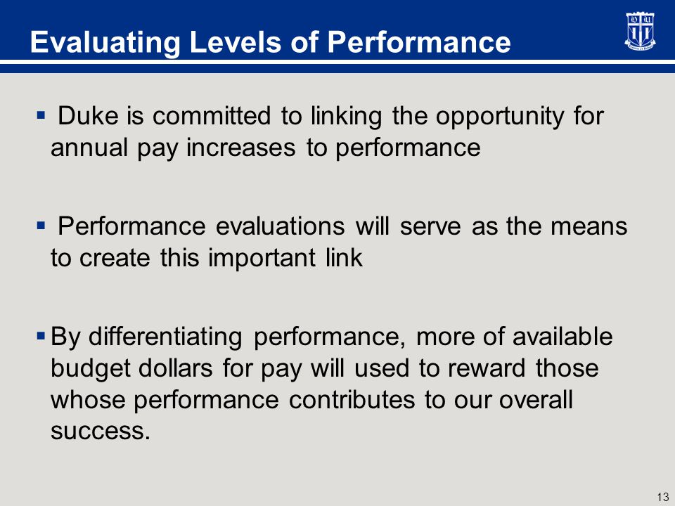 Defining Levels of Performance