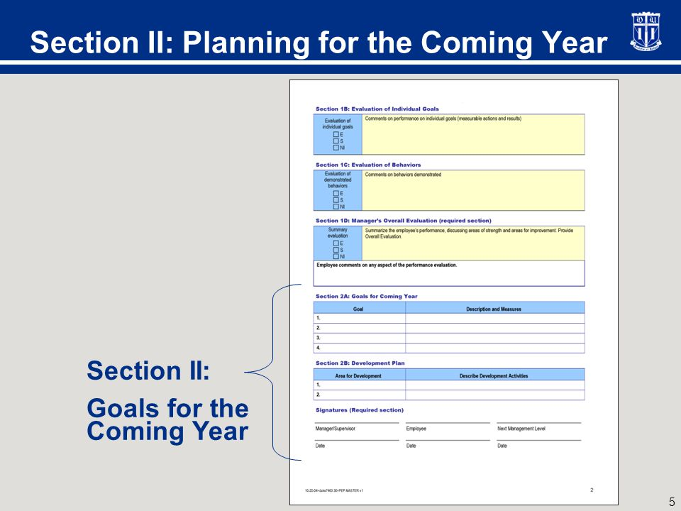 Planning for the Coming Year
