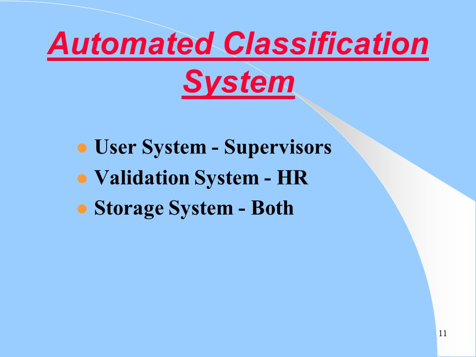 Automated Classification System