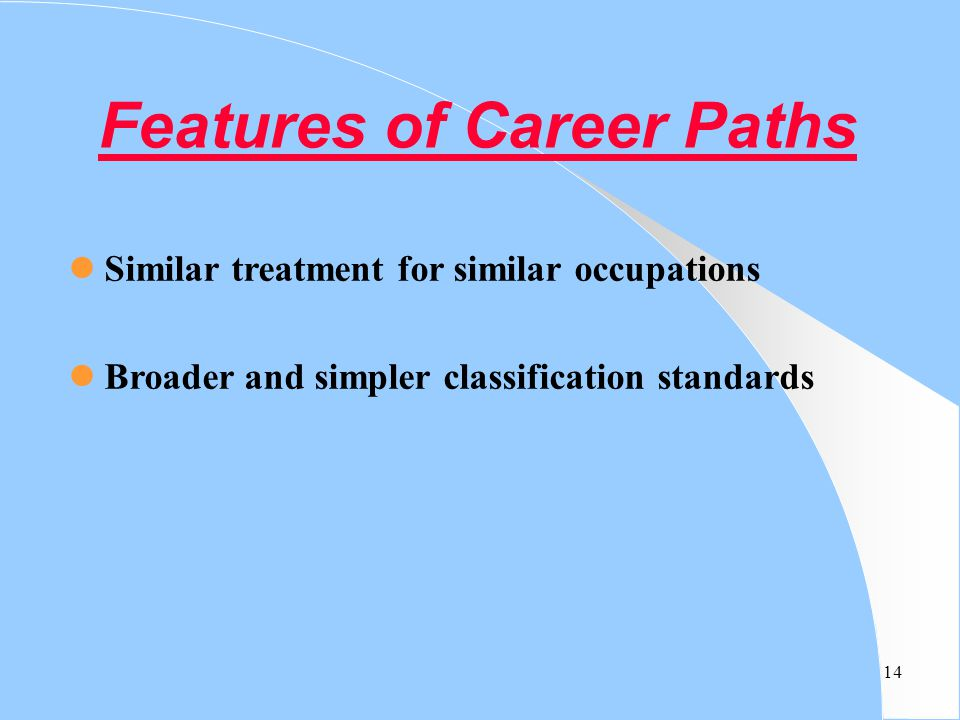Features of Career Paths