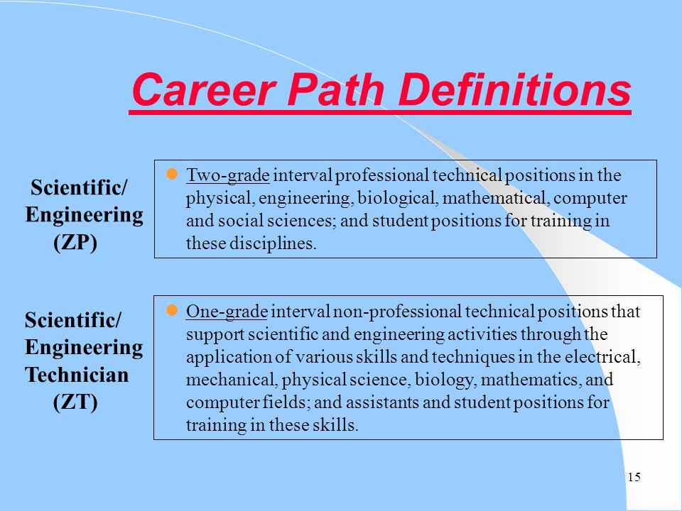 Career Path Definitions