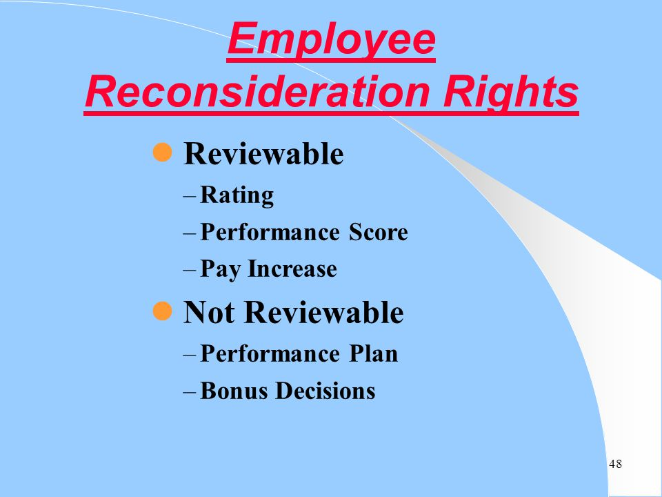 Employee Reconsideration Rights