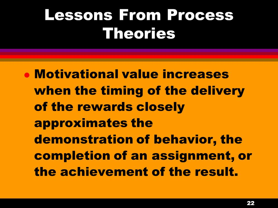 Lessons From Process Theories