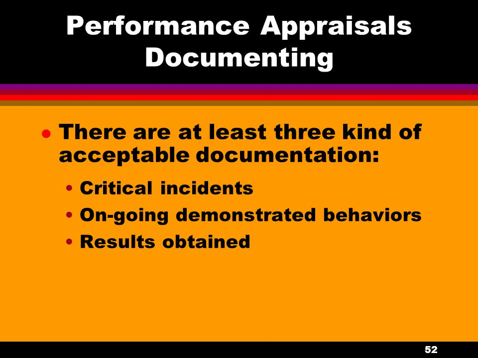 Performance Appraisals Documenting
