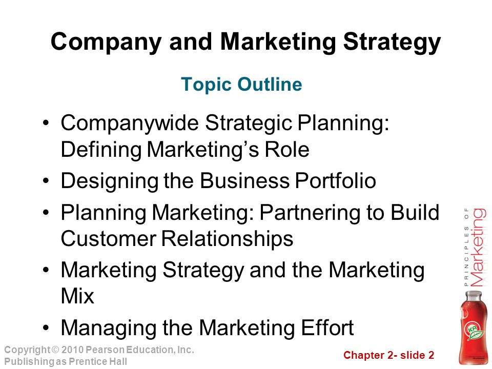 chapter two company and marketing strategy ppt download