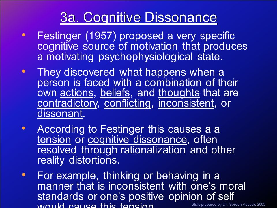 3a. Cognitive Dissonance