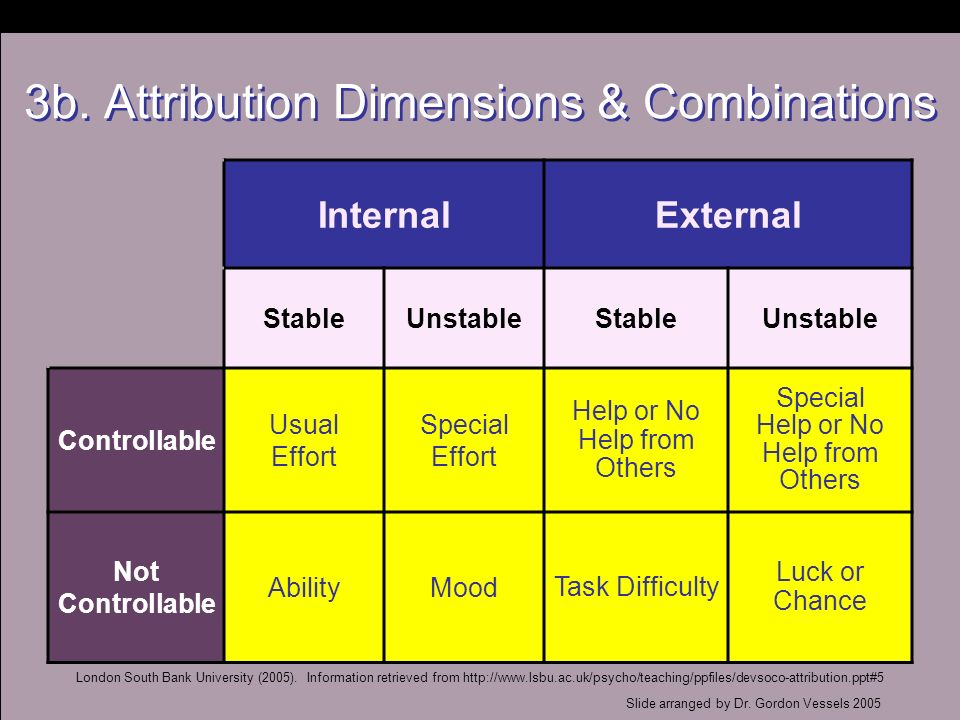 3b. Attribution Dimensions & Combinations