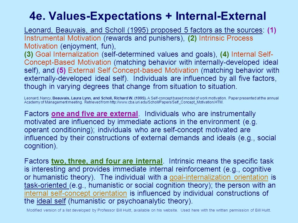 4e. Values-Expectations + Internal-External