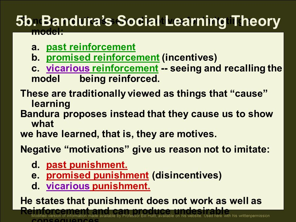 5b. Bandura's Social Learning Theory