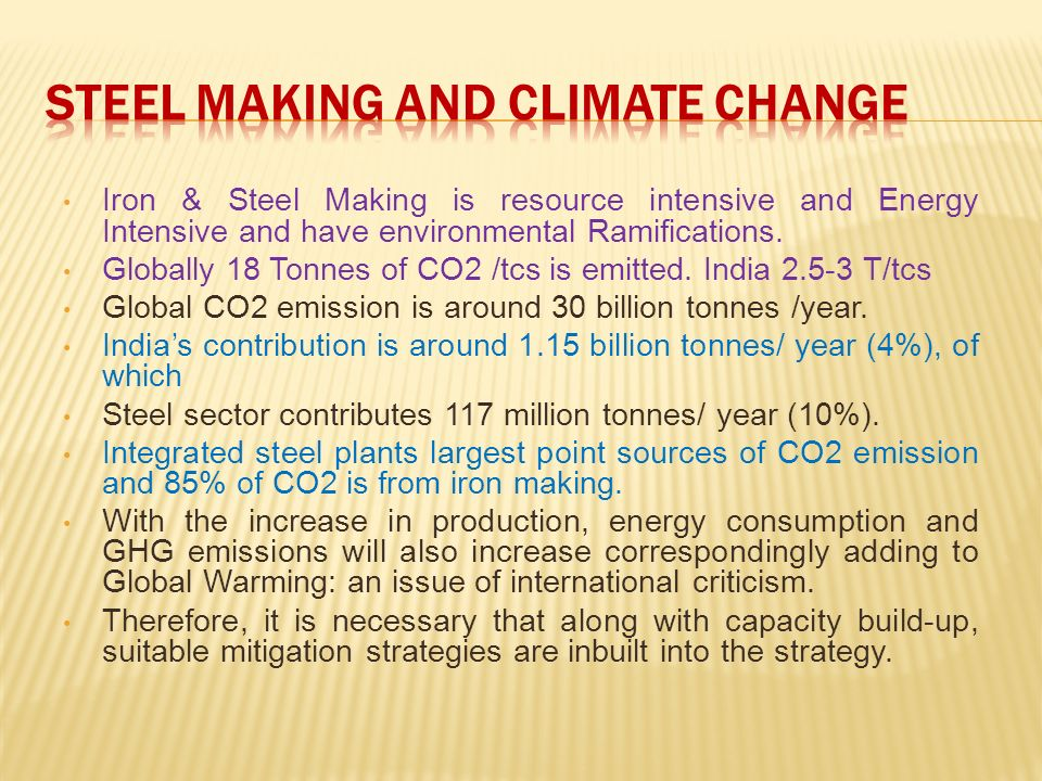 Steel Making and Climate Change