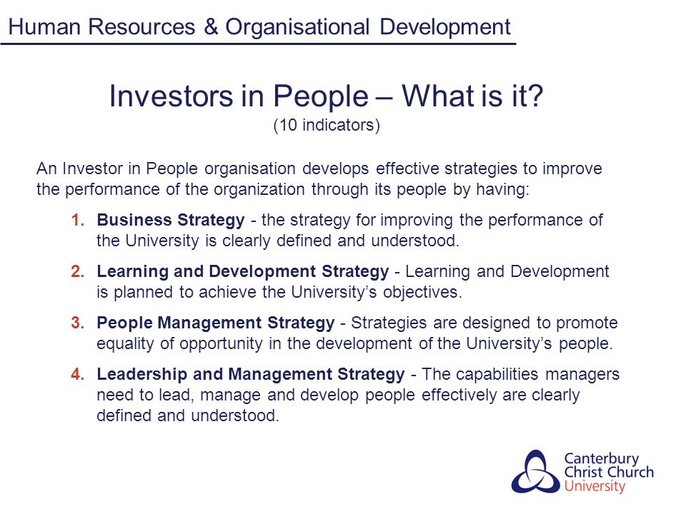 Investors in People – What is it (10 indicators)