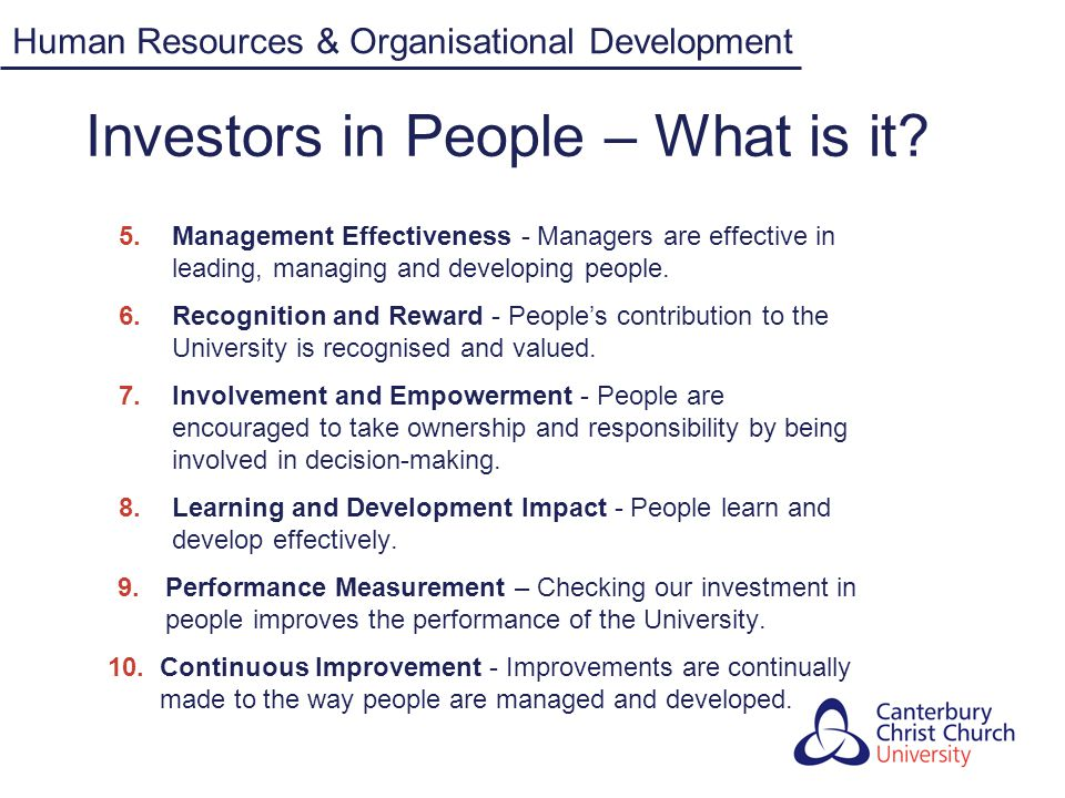 Investors in People – What is it