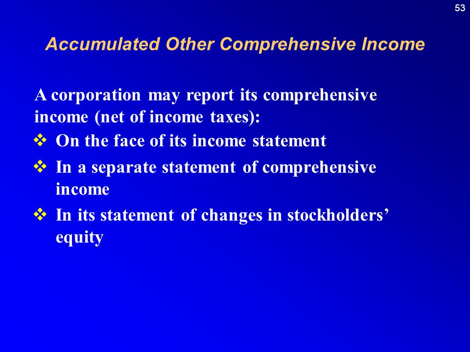Accumulated Other Comprehensive Income