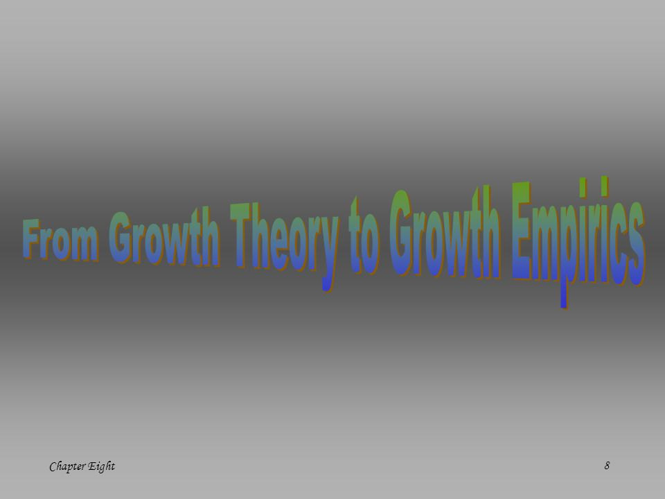 From Growth Theory to Growth Empirics