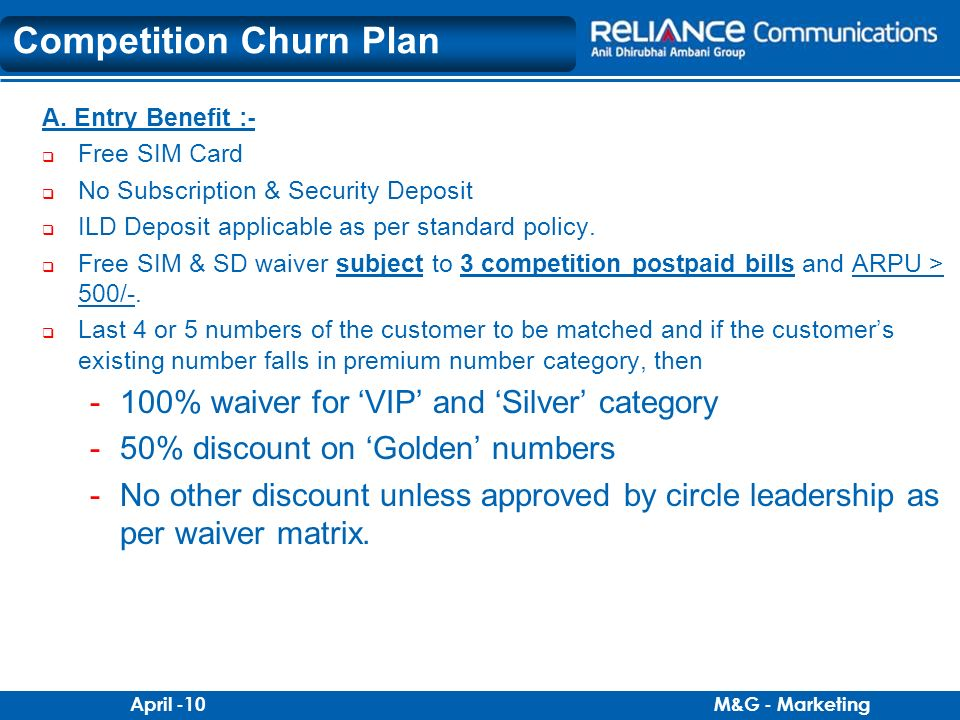 Competition Churn Plan
