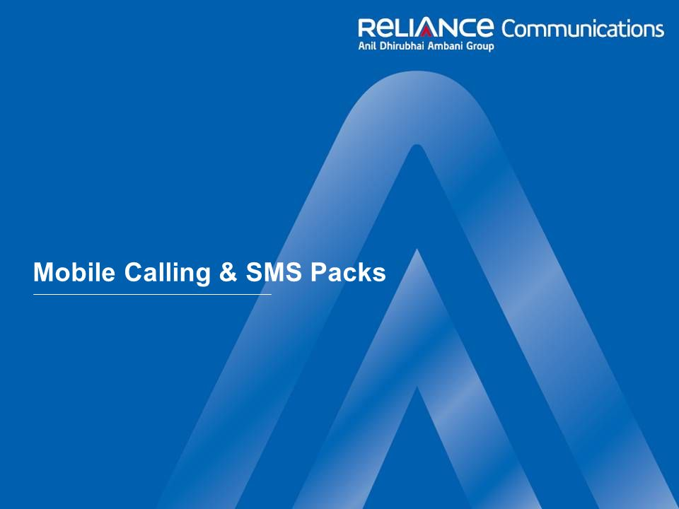 Mobile Calling & SMS Packs